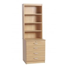 Compton Four Drawer Chest with OSC Hutch
