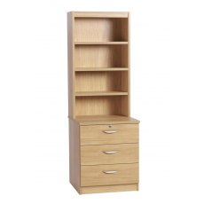 Compton Three Drawer CD/DVD Storage Chest with OSD Hutch