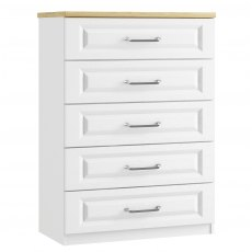 Sorrento 5 Drawer Wide Chest