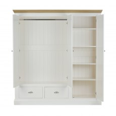 Coelo Triple Wardrobe with 2 Drawers