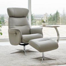 Palermo Swivel Recliner & Stool