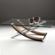 Tusk Rectangular Glass Coffee Table