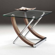 Tusk Square Glass Lamp Table