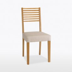 Windsor Ladder Low Back Dining Chair (in fabric)