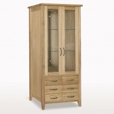 Windsor Tall Glazed Bookcase with 6 Drawers