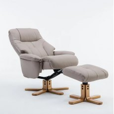 Emirate Swivel Recliner & Stool