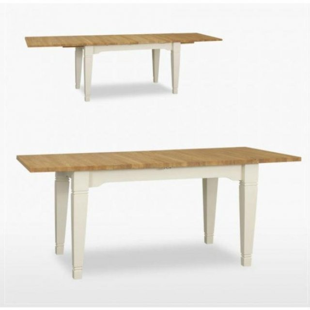 TCH Furniture Coelo Small Extending Dining Table with 2 Extension Leaves