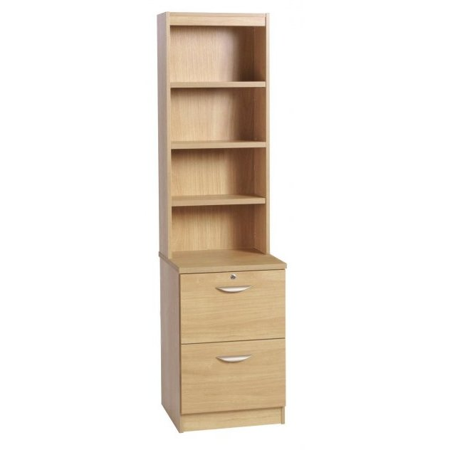 Whites Compton Two Drawer Filing Cupboard with OSC Hutch