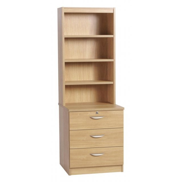 Whites Compton Three Drawer CD/DVD Storage Chest with OSD Hutch
