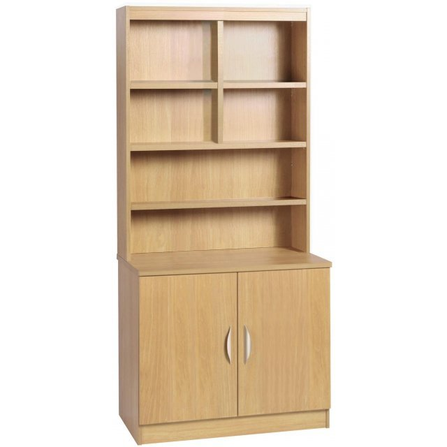 Whites Compton Desk Height Cupboard 850mm Wide with OSB Hutch