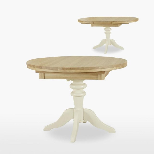 TCH Furniture Coelo Round Extending Single Pedestal Dining Table